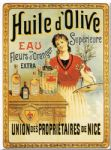 Shabby French Huile d'Olive Oil Chic Metal Sign Plaque